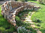 Rancho La Puerta Stonework Bench Photo © Alice Joyce