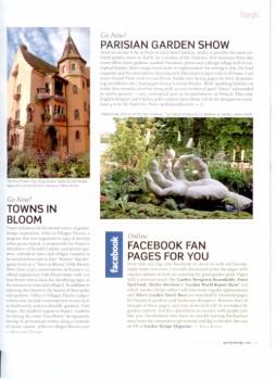 Kudos for Alice's Garden Travel Buzz FaceBook Page from Garden Design magazine